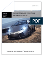 Export Automobile Parts Business Plan