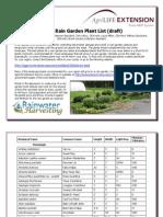 Texas Rain Garden Plant List