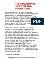 Right of Vocational Education and Employment