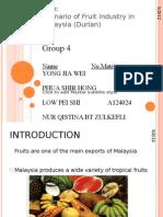 Industry Makanan Durian