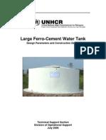 Large Ferro Cement Water Tank