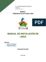 MANUAL DE INSTALACIÓN DE LINUX, JDK, NETBEANS Y  ORACLE