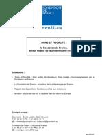 Etude de la Fondation de France sur les avantages fiscaux liés aux dons dans 4 pays européens