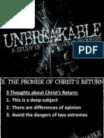 Unbreakable Week 10