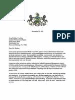 Rep. Boback letter - Shickshinny Borough - Wells Fargo Bank