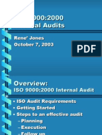 ISO 9000-2000 Internal Audits