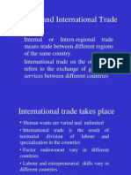 Internal and International Trade