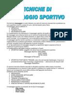 Tecniche Di Massaggio Sportivo