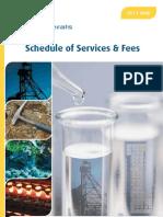 ALS Minerals Service Schedule AUD