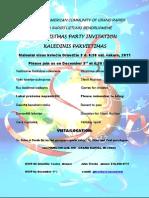 KALEDINIS PAKVIETIMAS 2011-Invitation to a Christmas Party 2011