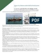 23 Burmese Sailors in Korean Sea