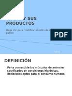 Carne y Sus Productos