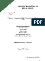 INSTITUTO TECNOLÓGICO DE CIUDAD JUÁREZ