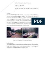 Project P - Traffic Congestion in the University