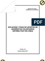 Instructivo Ahorristas Voluntarios Faov en Lnea