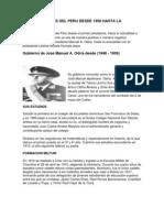 Los Presidentes Del Peru Desde 1950 Hasta La Actual Id Ad