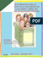 PROGRAMA INTERACTIVO PARA EL FORTALECIMIENTO DE LA LECTOESCRITURA DIRIGIDOS A LOS NIÑOS Y NIÑAS DEL SEGUNDO GRADO DE EDUCACIÓN PRIMARIA