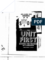The Unit First - Keeping the Promise of Cohesion - Christopher C. Straub - 1988