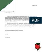 Letter for Mrs. Beyler's Class