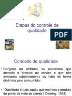1551434 Etapas Do Controle de Qualidade.ppt CONCEITO de QUALIDADE