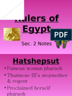 Rulers of Egypt Notes-Sec.2