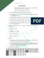 Ecuaciones 8º nivel 1