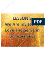 LP G3 Lesson 8-We Are Called to Serve in the Eucharist