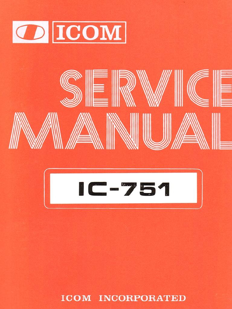 IC-751 Service Manual on