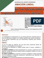1.1 Definicon de Desarrollo y Tipos de Modelos de Investigacion de Operaciones