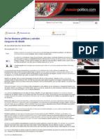 21-11-11 De las finanzas públicas y niveles de deuda riesgosos