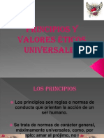 Principios y valores éticos universales