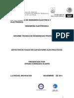 Detector de Fugas en Capacitores Electroliticos