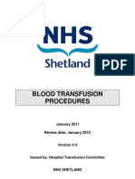 Blood Transfusion Procedures