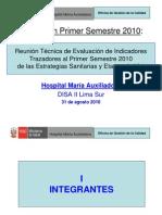 Evaluación Estrategias y Etapas 2011..