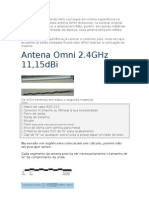 Antena Omni 2.4GHz 11,15dBi