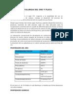 Metalurgia Del Oro y Plata