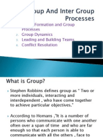 Group and Inter Group Processes