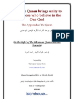 How the Quran Brings Unity to All of Those Who Believe in the One God