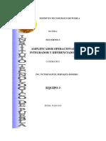 Amplificador Operacional Integradores y Diferenciadores
