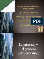 Unidad 2.- La Empresa y El Proceso Administrativo