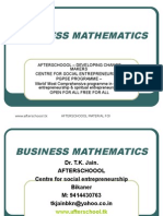 22 July Business Mathematics