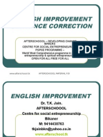 23 July English Improvement