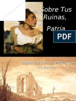 Sobre Tus Ruinas, Patria Corregido