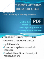 COLLEGE STUDENTS' ATTITUDES TOWARDS LITERATURE CIRCLE