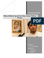 Bilawal Bhutto Speech in China Asian Political Parties