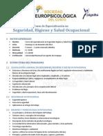 Curso de especialización en Seguridad, Higiene y Salud Ocupacional