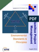 HPM's Environmental Standards & Principles
