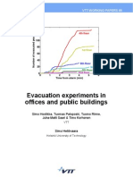 Evacuations Experiments in Offices and Public Buildings