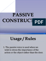 Passive Construction Latest