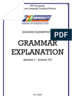 Grammar Explanation Jap1.1 L1-L10